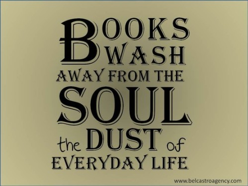 books wash away dust