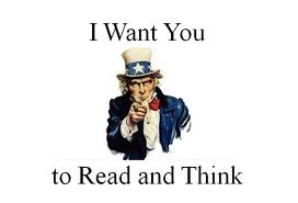 uncle sam want you to read and think