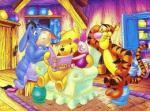 pooh reading